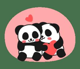 Panda In Love sticker #801478