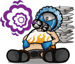 Gas Mask Family sticker #801494
