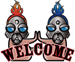 Gas Mask Family sticker #801509