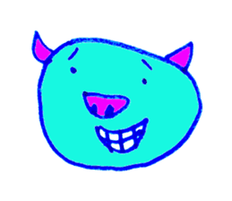 Hello! I am Colorful Pig! sticker #807079