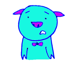 Hello! I am Colorful Pig! sticker #807080