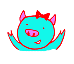 Hello! I am Colorful Pig! sticker #807086