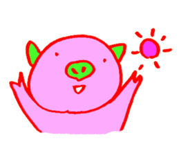 Hello! I am Colorful Pig! sticker #807088