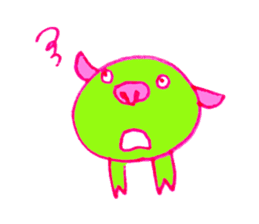 Hello! I am Colorful Pig! sticker #807090