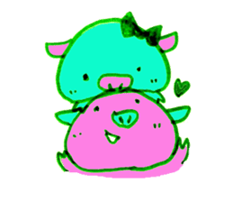 Hello! I am Colorful Pig! sticker #807091