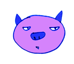 Hello! I am Colorful Pig! sticker #807101