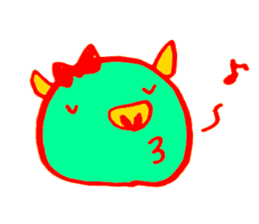 Hello! I am Colorful Pig! sticker #807103
