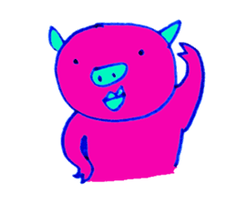 Hello! I am Colorful Pig! sticker #807105