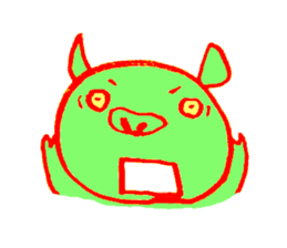 Hello! I am Colorful Pig! sticker #807118