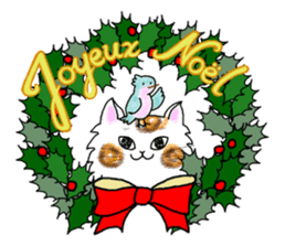 Cookie the Cat 3/Christmas/Holidays sticker #813040