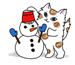 Cookie the Cat 3/Christmas/Holidays sticker #813042