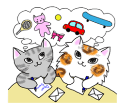 Cookie the Cat 3/Christmas/Holidays sticker #813044