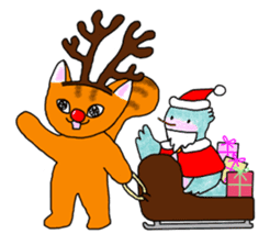 Cookie the Cat 3/Christmas/Holidays sticker #813045