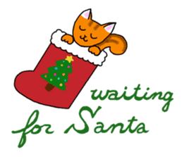 Cookie the Cat 3/Christmas/Holidays sticker #813046