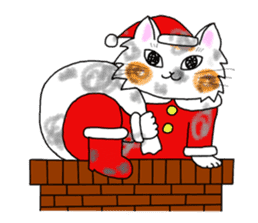 Cookie the Cat 3/Christmas/Holidays sticker #813048