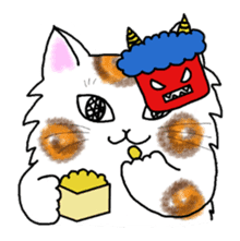 Cookie the Cat 3/Christmas/Holidays sticker #813063
