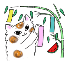 Cookie the Cat 3/Christmas/Holidays sticker #813071