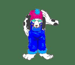 Dog of sunglasses sticker #813219