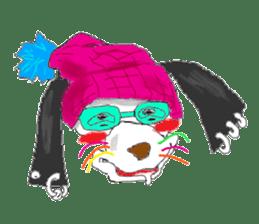 Dog of sunglasses sticker #813221