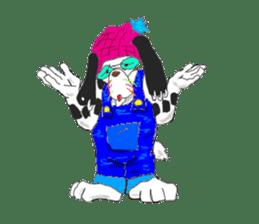 Dog of sunglasses sticker #813222