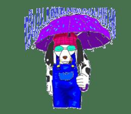 Dog of sunglasses sticker #813228