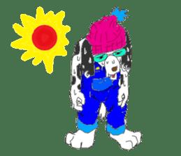 Dog of sunglasses sticker #813231