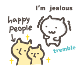 happy people&unhappy people(English) sticker #813619