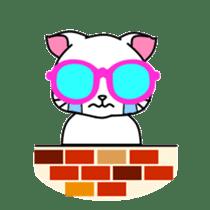 sunglasses cat shirosan sticker #814219