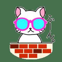 sunglasses cat shirosan sticker #814226