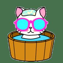 sunglasses cat shirosan sticker #814237