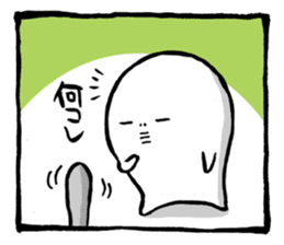 Two-panel cartoon for LINE Chats sticker #814527