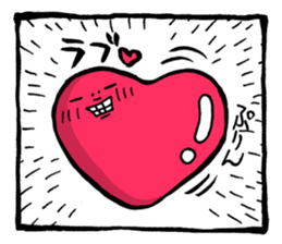 Two-panel cartoon for LINE Chats sticker #814536