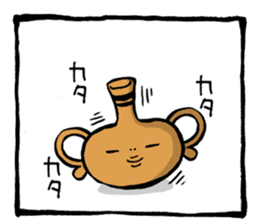 Two-panel cartoon for LINE Chats sticker #814539
