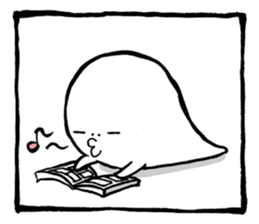 Two-panel cartoon for LINE Chats sticker #814543