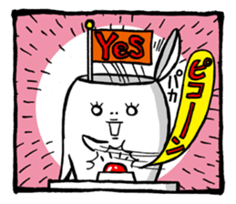 Two-panel cartoon for LINE Chats sticker #814546