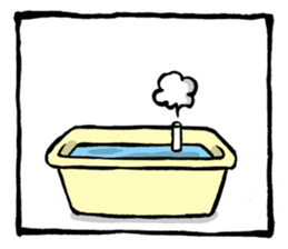 Two-panel cartoon for LINE Chats sticker #814553