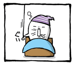 Two-panel cartoon for LINE Chats sticker #814557