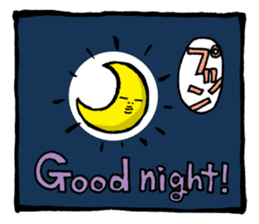 Two-panel cartoon for LINE Chats sticker #814558