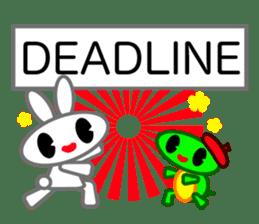 Editor Rabbit and Writer Turtle English sticker #816079