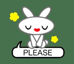 Editor Rabbit and Writer Turtle English sticker #816080