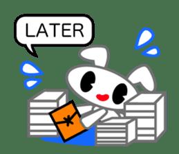 Editor Rabbit and Writer Turtle English sticker #816082