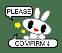 Editor Rabbit and Writer Turtle English sticker #816083