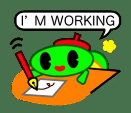 Editor Rabbit and Writer Turtle English sticker #816090