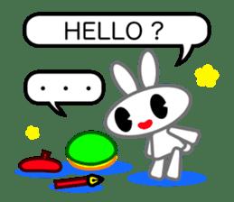 Editor Rabbit and Writer Turtle English sticker #816097