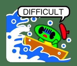 Editor Rabbit and Writer Turtle English sticker #816100