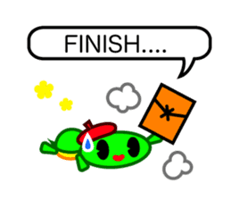 Editor Rabbit and Writer Turtle English sticker #816106