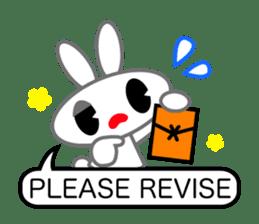 Editor Rabbit and Writer Turtle English sticker #816109