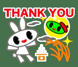 Editor Rabbit and Writer Turtle English sticker #816112