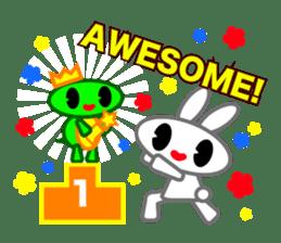 Editor Rabbit and Writer Turtle English sticker #816114