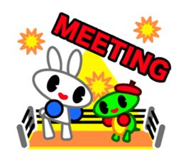 Editor Rabbit and Writer Turtle English sticker #816115